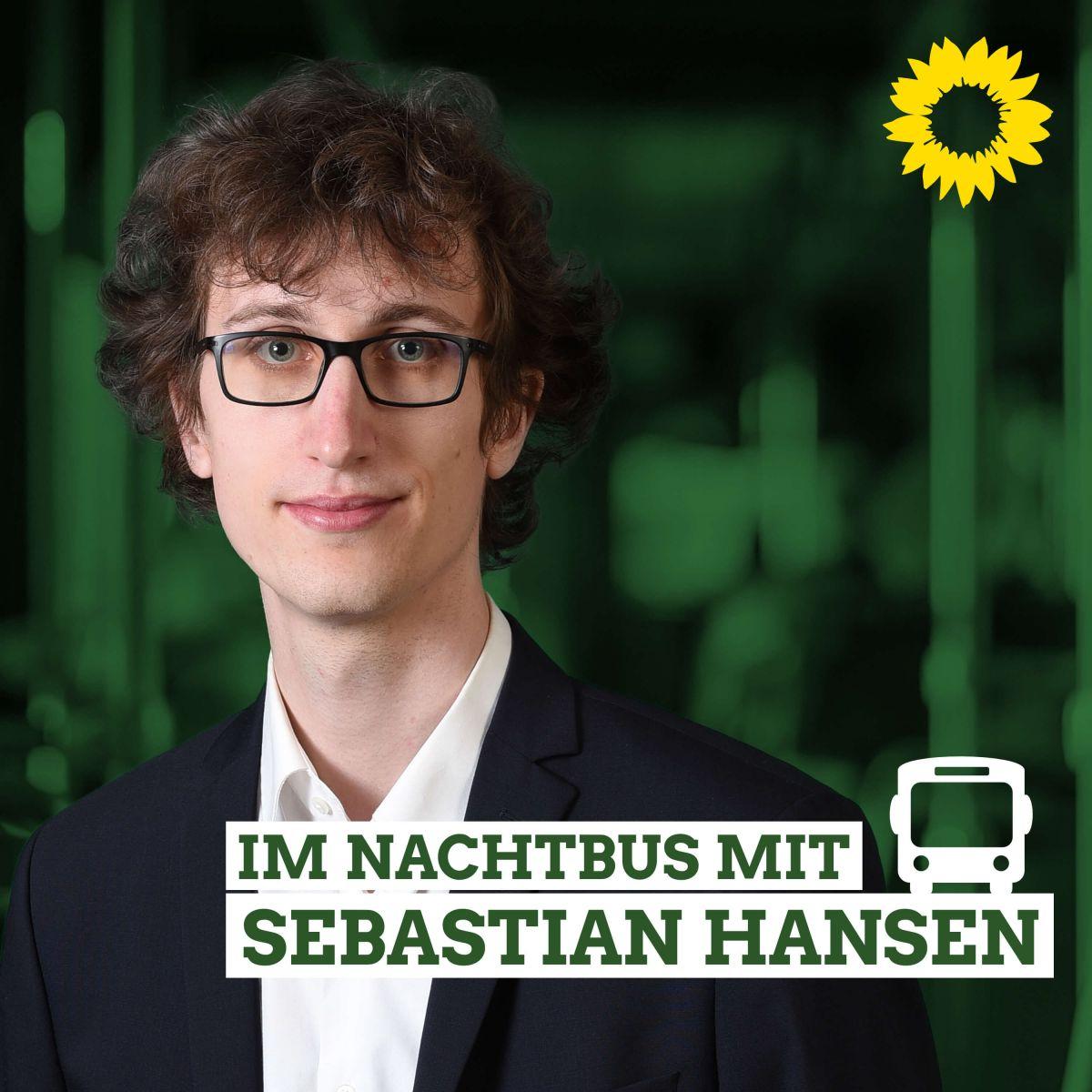 Podcast-Cover: Im Nachtbus mit Sebstian Hansen